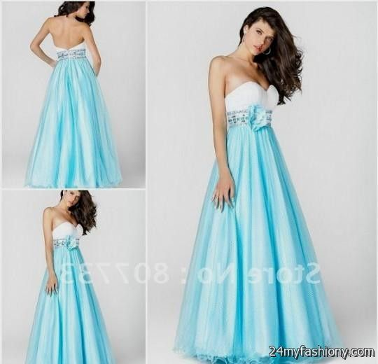 Blue And White Formal Dresses 2016 2017 B2b Fashion