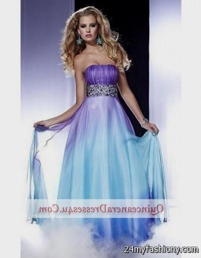 Ombre plus size dresses