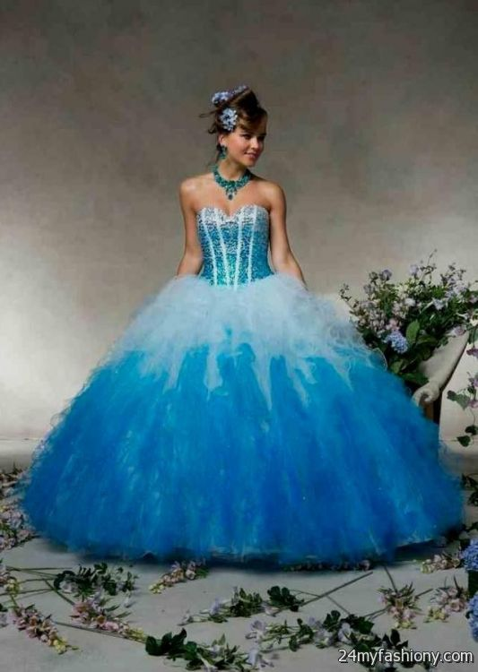 Blue And White Ombre Quinceanera Dresses Looks B2b Fashion