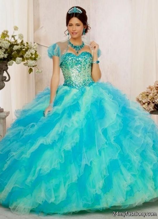 blue and white ombre quinceanera dresses 2016-2017   B2B ...  blue and white ...