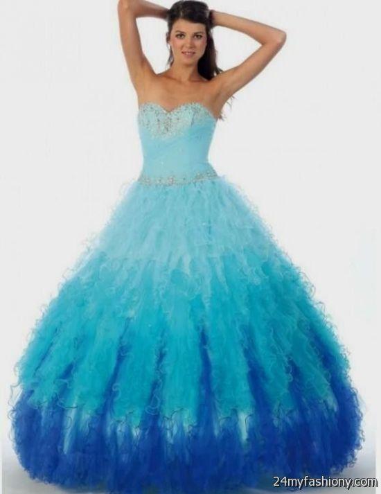 blue ball gown prom dresses 2016-2017 » B2B Fashion