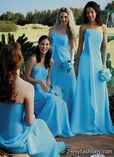 Blue beach bridesmaid dresses 2016 2017 b2b fashion for Blue beach wedding dresses