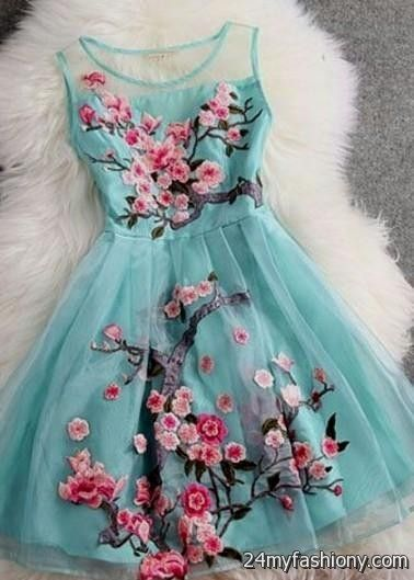 blue floral dress tumblr