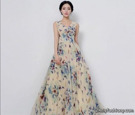 blue floral wedding dress 2016 2017 b2b fashion