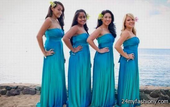 Ombre Bridesmaid Dress
