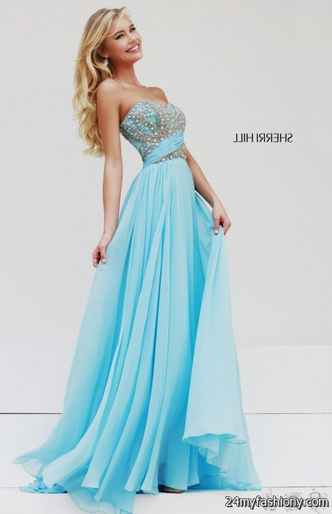 blue sherri hill prom dresses 20162017 b2b fashion