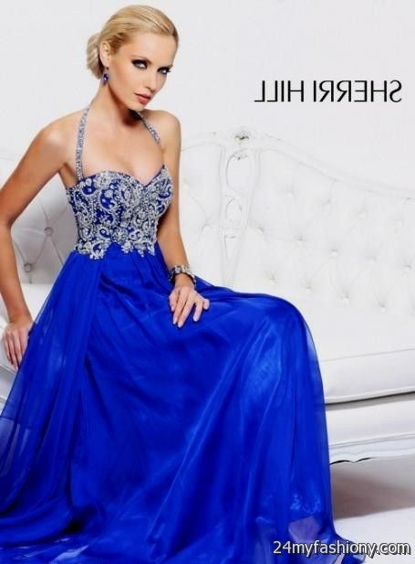 10fbf7ba445 You can share these blue sherri hill prom dresses on Facebook