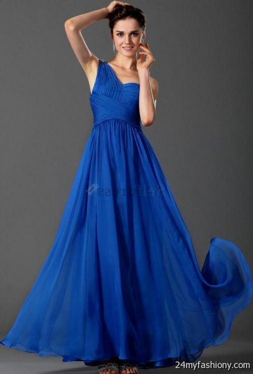 blue silk chiffon dress 2016-2017 » B2B Fashion