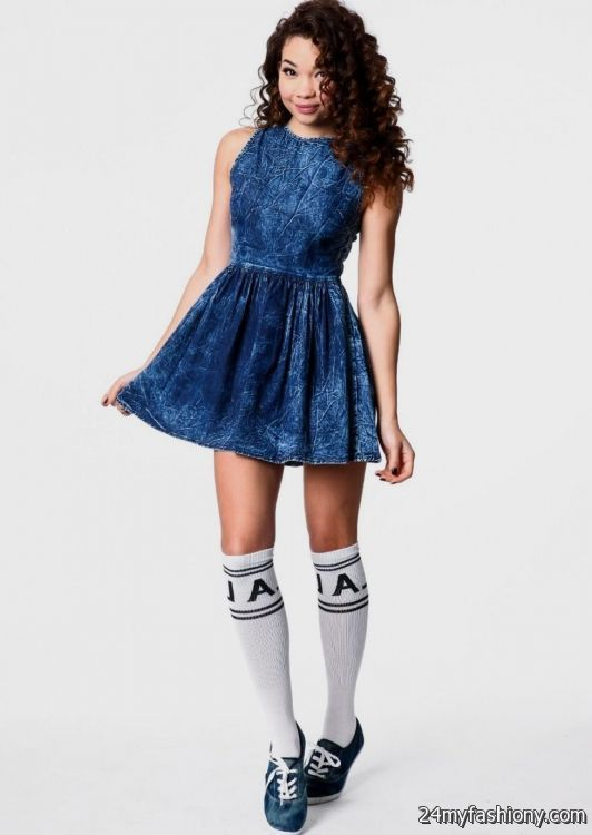 Blue summer dresses for teenagers