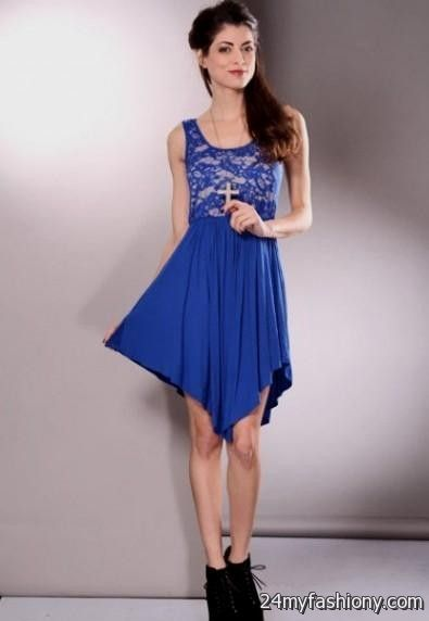 Blue summer dresses for teens
