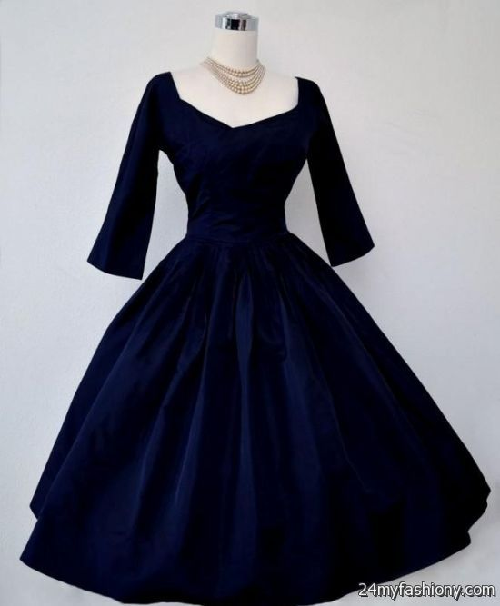 blue vintage cocktail dress 2016-2017 | B2B Fashion