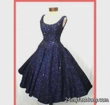 Vintage Blue Cocktail Dresses