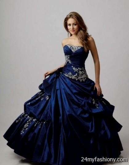 Blue Wedding Dress 2016 2017 B2b Fashion