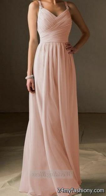 Blush Pink Plus Size Bridesmaid Dresses : Blush pink chiffon bridesmaid dresses b fashion