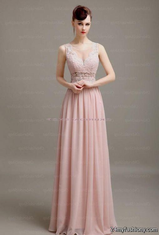 Blush Pink Lace Prom Dress Looks B2b Fashion