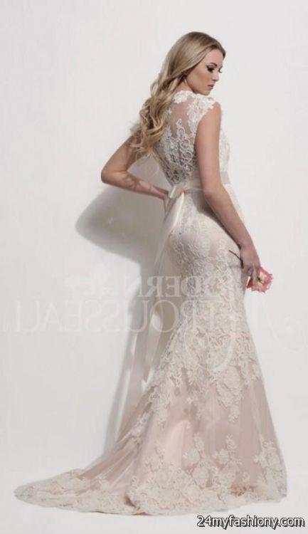 Blush Pink Lace Wedding Dress 2016 2017 B2b Fashion