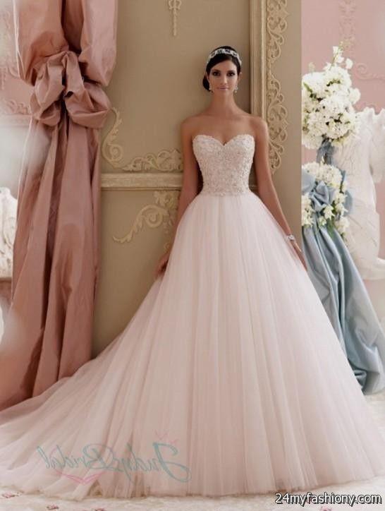 Blush pink lace wedding dress 2016 2017 b2b fashion for Pink lace wedding dresses