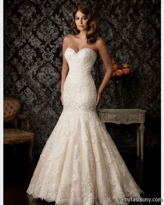 Blush pink lace wedding dress 2016 2017 b2b fashion for Lace blush wedding dress
