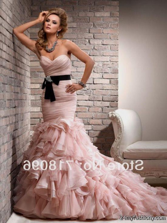 blush pink mermaid dress 20162017 b2b fashion