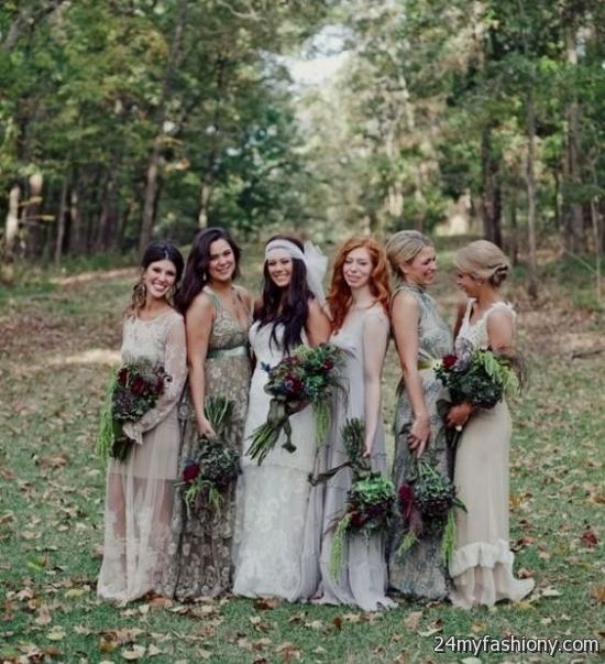 Bohemian Style Bridesmaid Dresses - Wedding Dress Ideas
