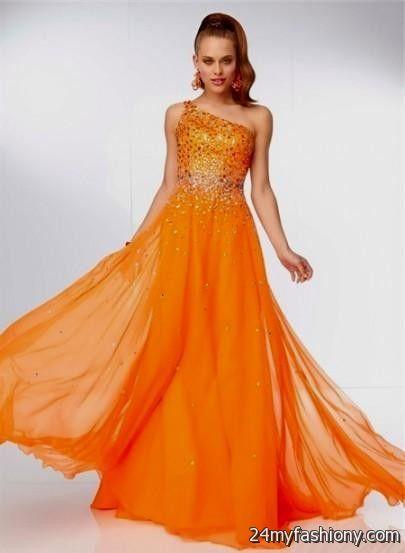 Orange Prom Dresses 2018 - Homecoming Prom Dresses