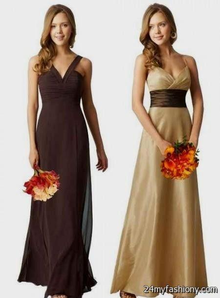 brown and orange bridesmaid dresses 2016-2017 » B2B Fashion