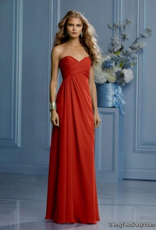 Burnt Orange Bridesmaid Dresses Cheap