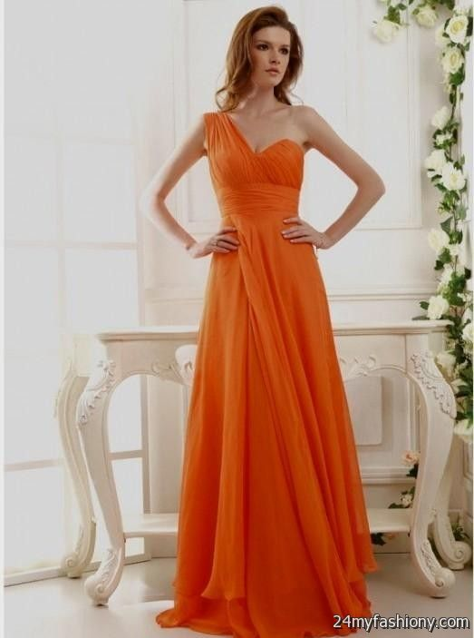 Burnt Orange Chiffon Bridesmaid Dresses 2016 2017 B2b
