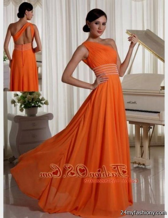 Burnt Orange Prom Dress