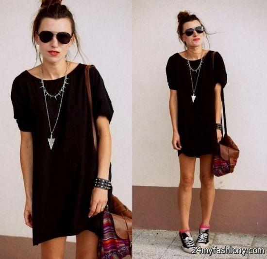 casual black dress outfit tumblr 2016-2017 | B2B Fashion