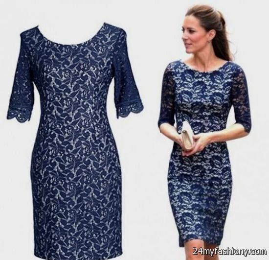 casual blue lace dress 2016-2017 | B2B Fashion