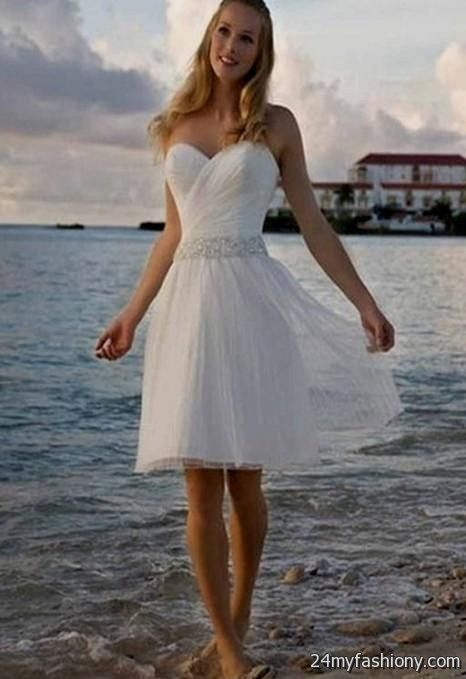 Beach Wedding Dresses Casual Cotton 54