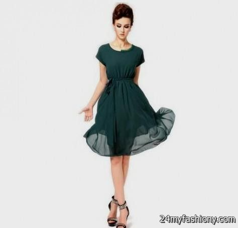 casual dark green dress 2016-2017 » B2B Fashion
