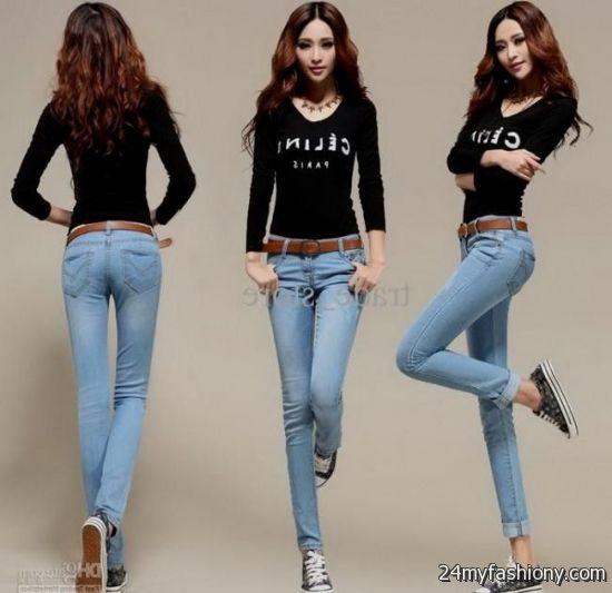 Unique Winter Two Piece Jeans Jumpsuit 2017 Fashion Long Sleeve Bodycon Denim