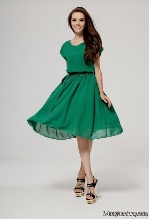 Casual Dresses With Sleeves Knee Length Looks B2b Fashion