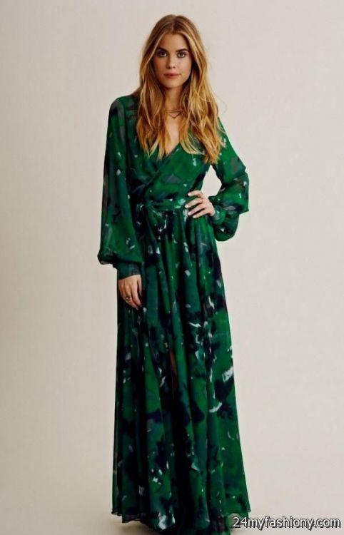 casual emerald green maxi dress looks