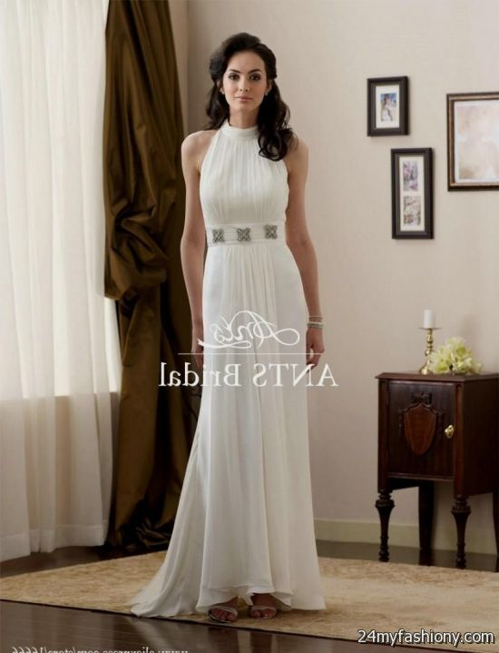 casual halter wedding dresses 2016-2017 | B2B Fashion
