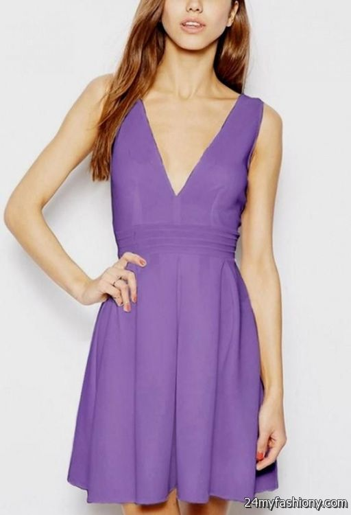 casual light purple dress 2016-2017 » B2B Fashion