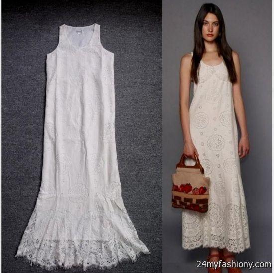 casual long white lace dress 20162017 b2b fashion
