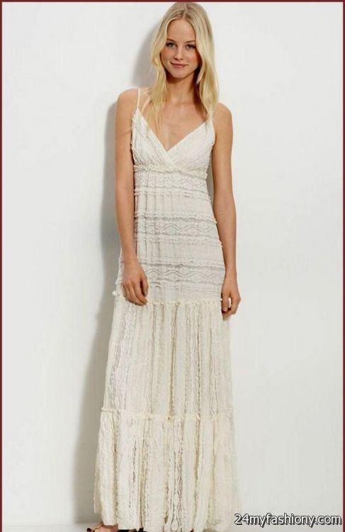 casual long white lace dress 2016-2017 » B2B Fashion