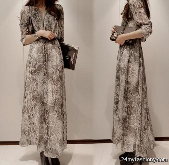 Casual Maxi Dress With Sleeves Looks B2b Fashion