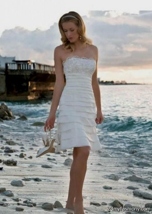 Casual short wedding dress for the beach 2016 2017 b2b for Beach wedding dresses 2017