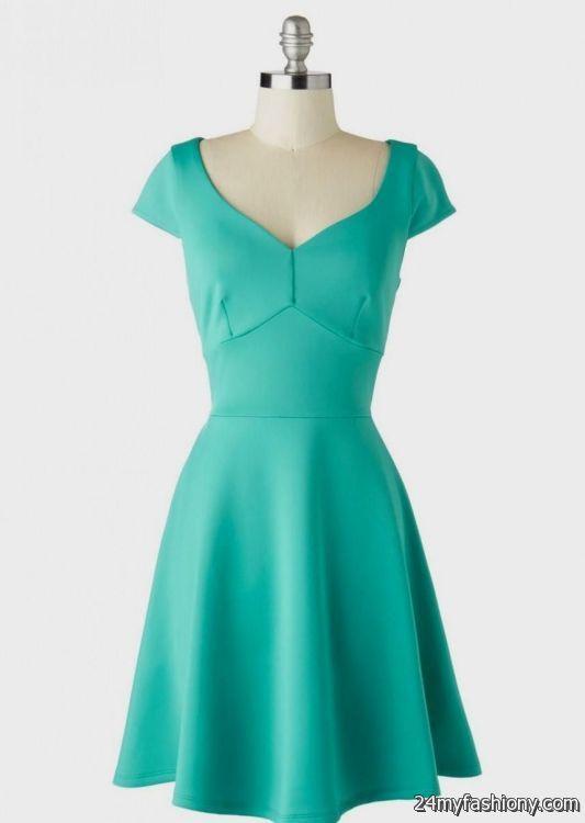 casual teal dresses 2016-2017 » B2B Fashion