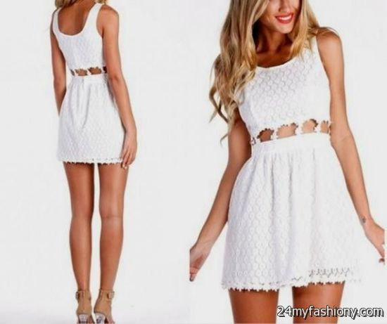 White Graduation Dresses Casual - Holiday Dresses