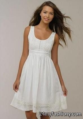 casual white summer dress 2016-2017