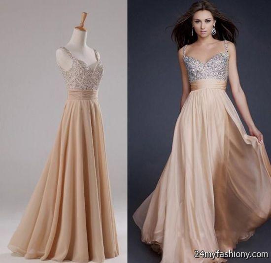 champagne chiffon prom dresses 2016-2017 » B2B Fashion