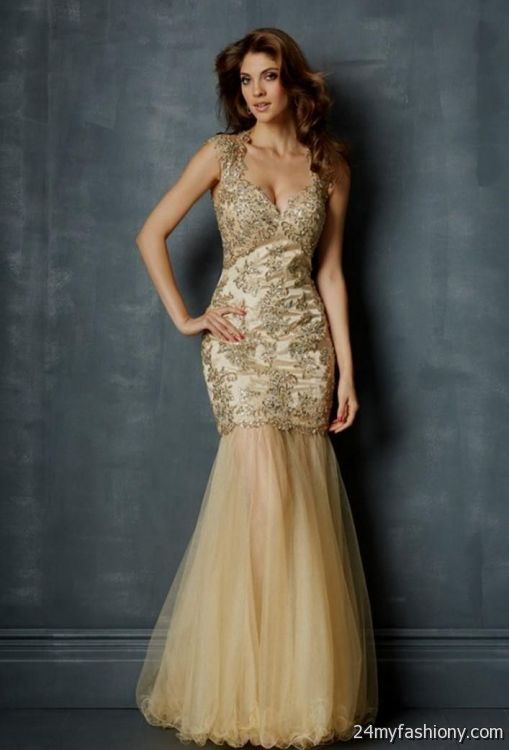 champagne mermaid prom dress 20162017 b2b fashion