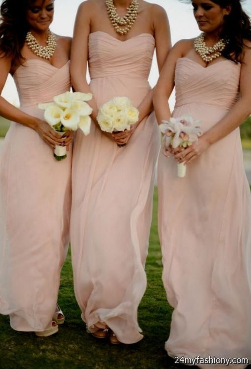 Champagne pink bridesmaid dress 2016 2017 b2b fashion for Pink champagne wedding dress