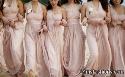 champagne pink bridesmaid dress 2016-2017 » B2B Fashion