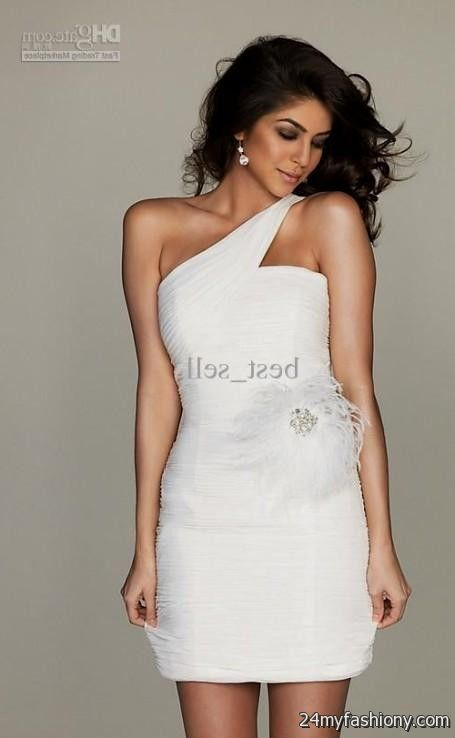b01f6fa419 Get party perfect! You can share these classy white cocktail dresses on  Facebook ...
